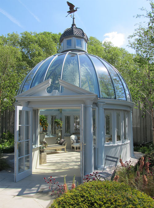 Khora Architectural Dome Steel and Glass Garden Room Best