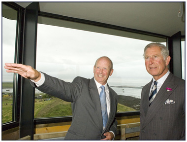 Lindisfarne Look Out Tower opened by Prince Charles
